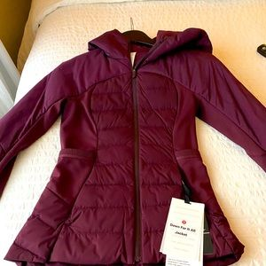 Burgundy Lululemon jacket
